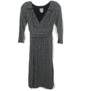 ANTHROPOLOGIE MAEVE FAUX WRAP DRESS XS